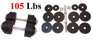 One Pair of Adjustable Dumbbells