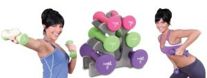 Tone Fitness 20 lb. Hourglass Dumbbell Set